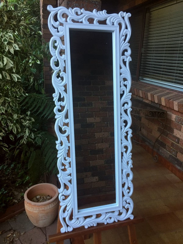 Moroccan Inspired Wood Framed Wall Mirror