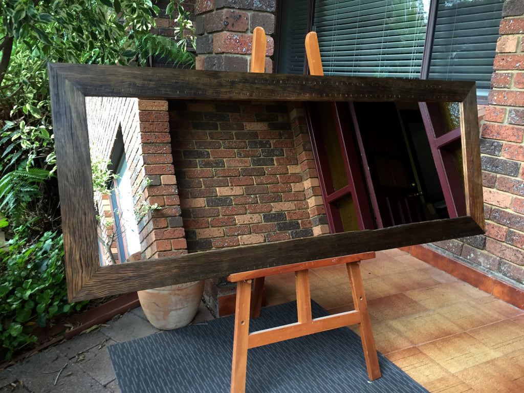 Weathered Recycled Australian Hardwood Spotted Gum Mirror