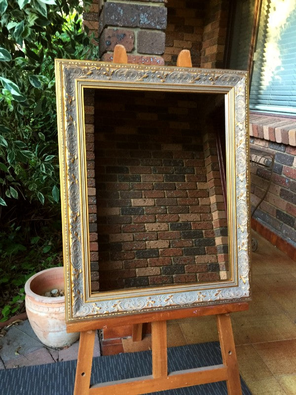 Aged Antique Look Gold Mirror