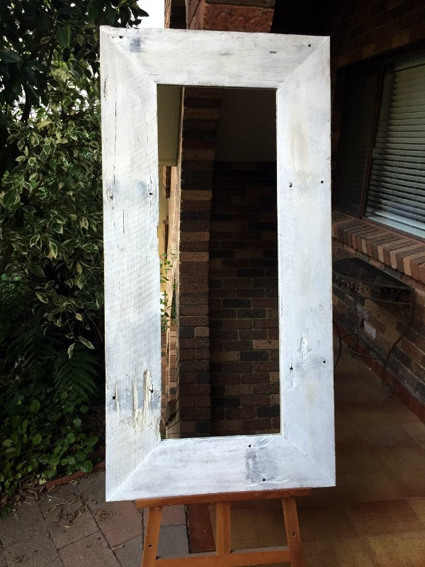 Whitewash Recycled Australian Hardwood Mirror