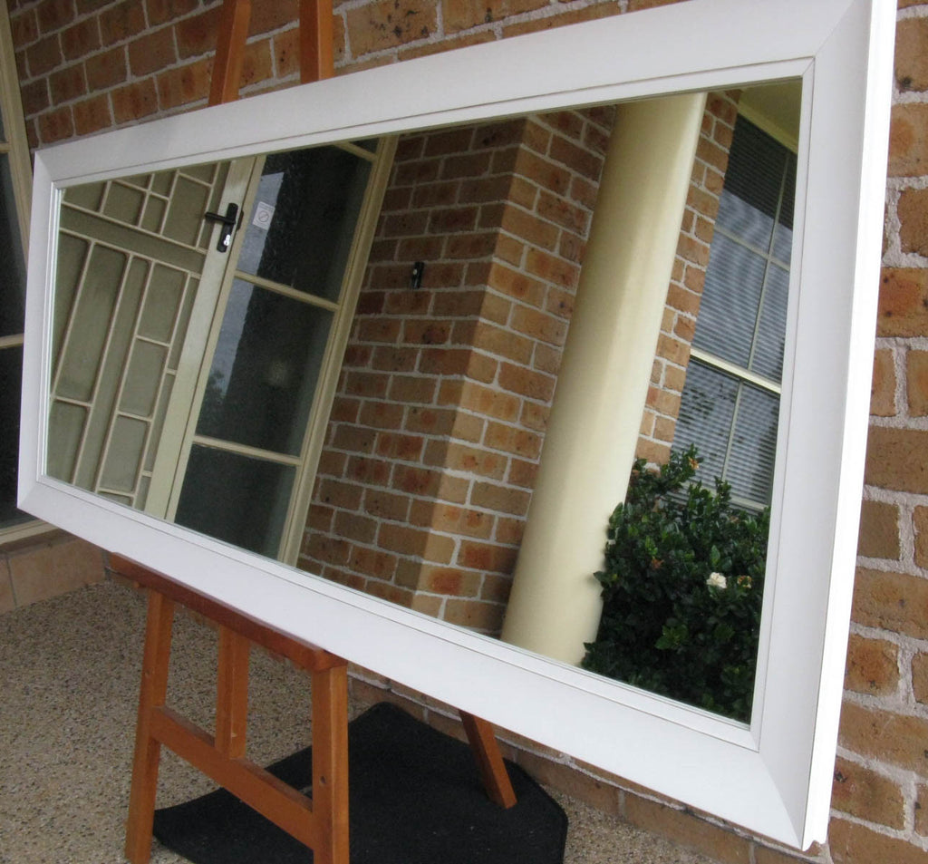 Classic White Timber Framed Large Wall Mirror
