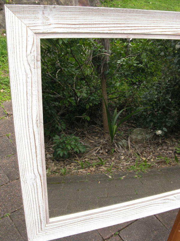 Newcastle Coastal Style Whitewash Timber Framed Wall Mirror