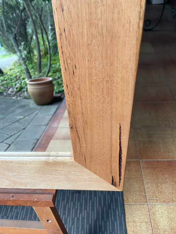 Aust Hardwood Natural Tas Oak Wide Timber Framed Wall Mirror