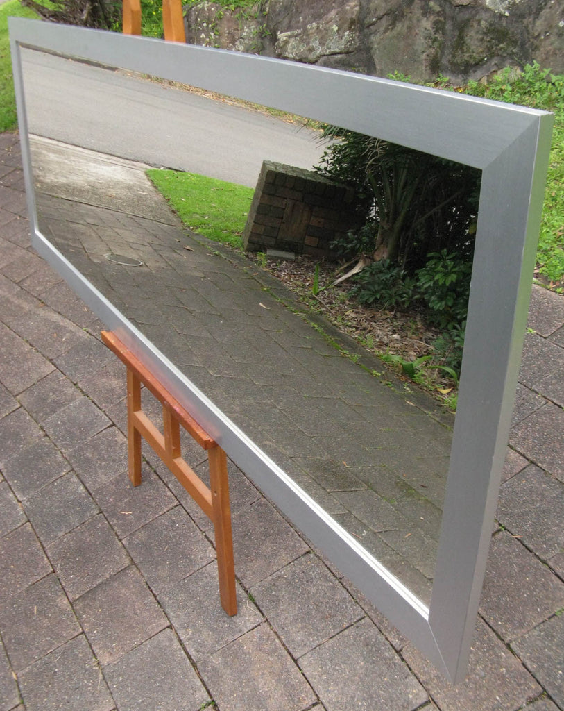 Stainless Steel Look Timber Mirror