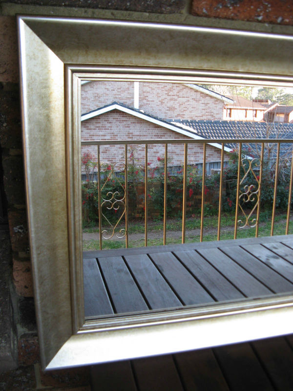 Traditional Champagne Silver Timber Framed Wall Mirror