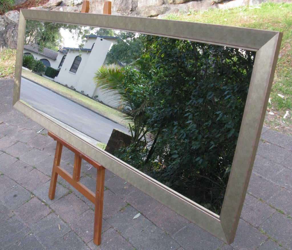 Alpine Champagne Wide Wooden Framed Wall Mirror