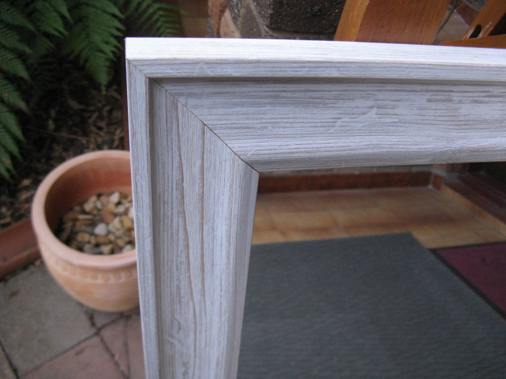 Matilda White Wash Timber Framed Mirror