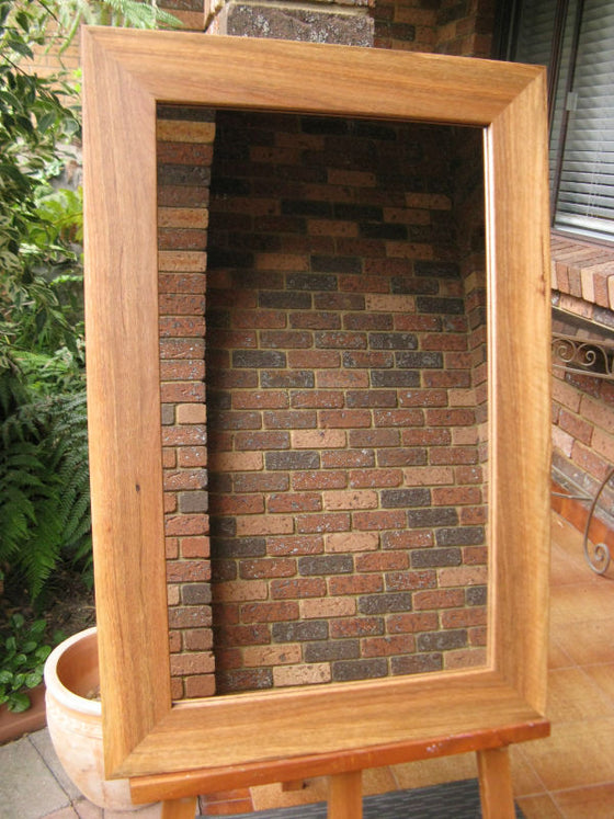 Australian Hardwood Spotted Gum Timber Framed Wall Mirror