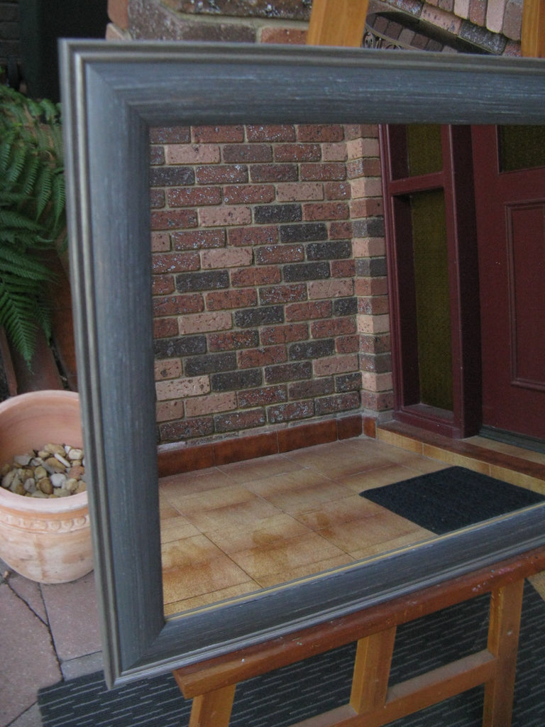 Driftwood Slate Grey Timber Framed Wall Mirror