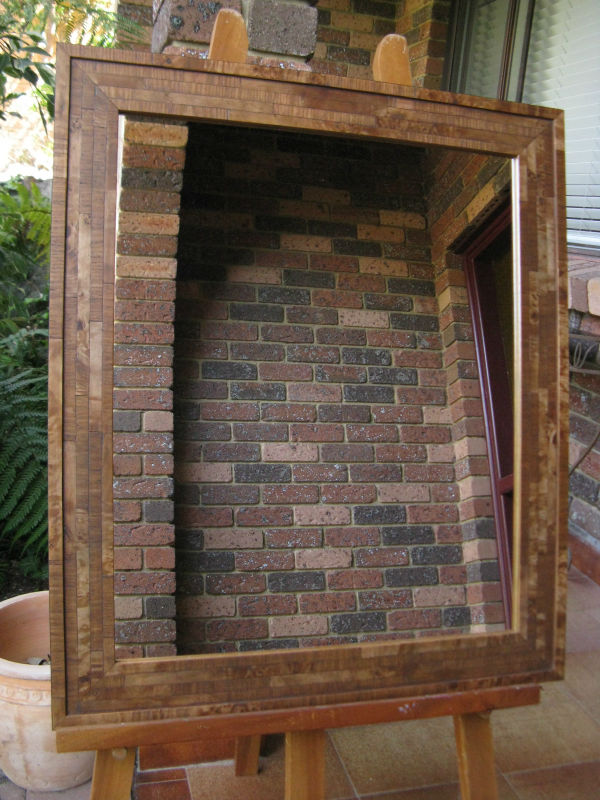 Winston Teak Colour Veneer Timber Framed Wall Mirror
