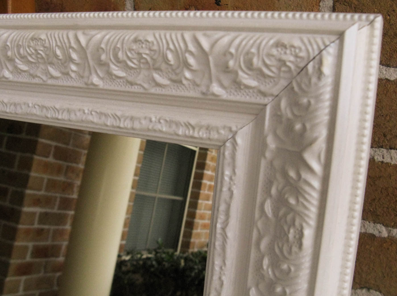 Viera White Ornate Decorative Large Wall Mirror Image Enhancement Image Enhancement Mirrors