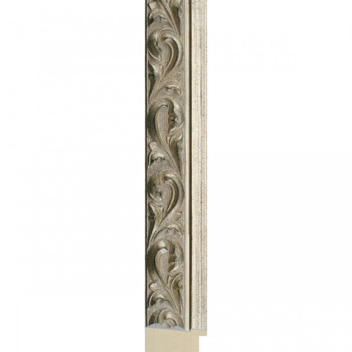 Ornate Antique Style Silver Timber Frame