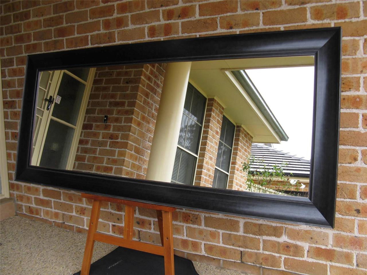 Majorca Classic Black Wood Frame Large Wall Mirror Image Enhancement Image Enhancement Mirrors