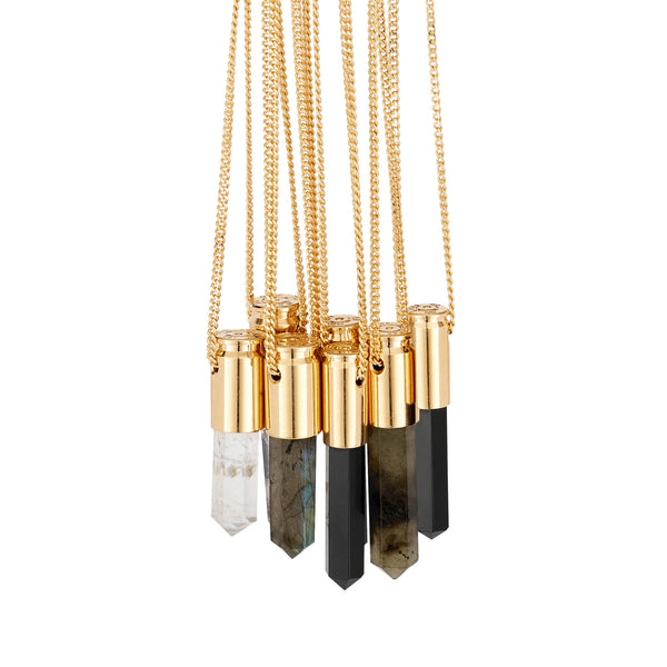 18 Carat Gold Plated Crystal Pendants