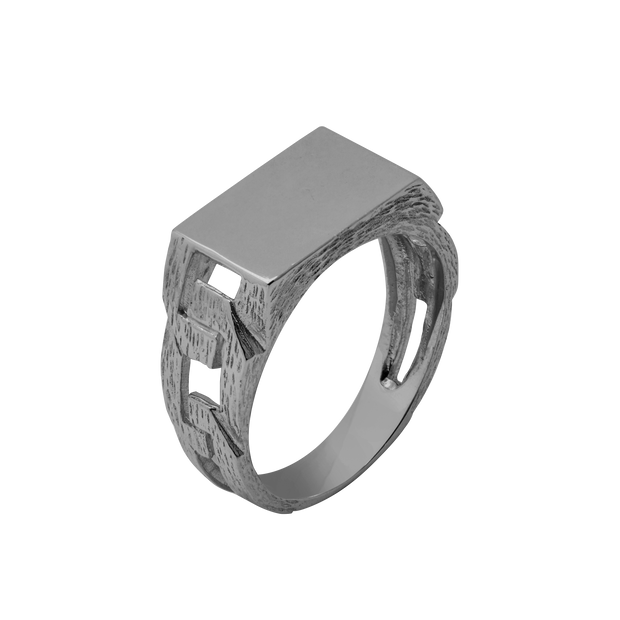 Midnight Chain Link Ring