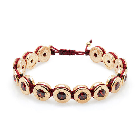 18 Ct Gold Cherry Bling Bracelet