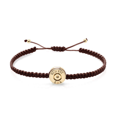 18ct Gold Coffee Bond Bracelet