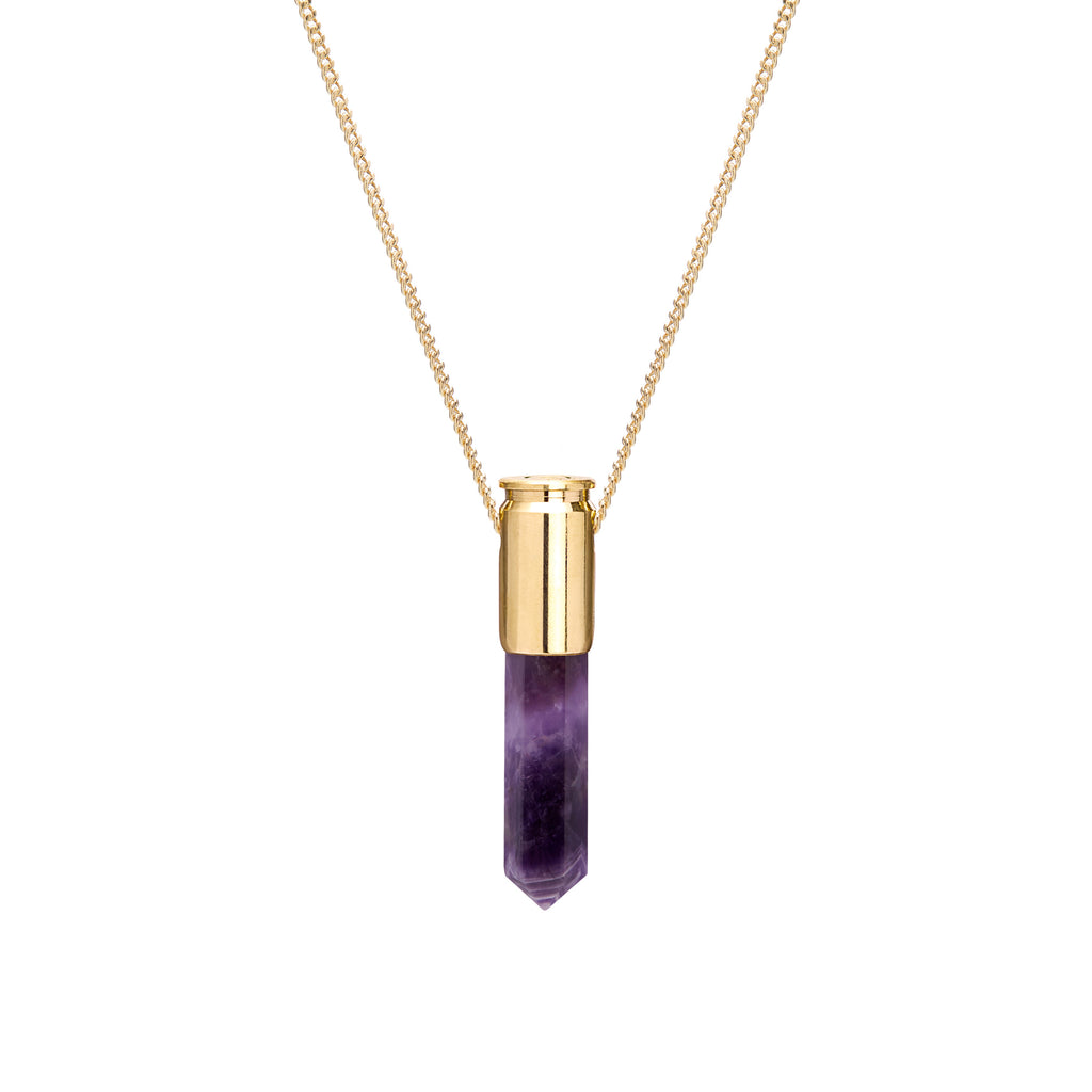 18 Ct Gold Amethyst Crystal