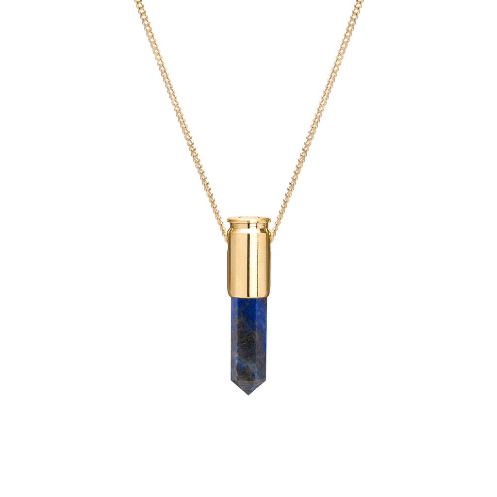 18ct Gold Blue Lapis Crystal