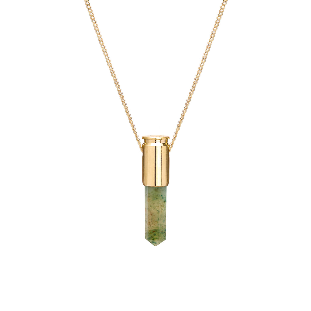 18 Ct Gold Green Aventurine Crystal