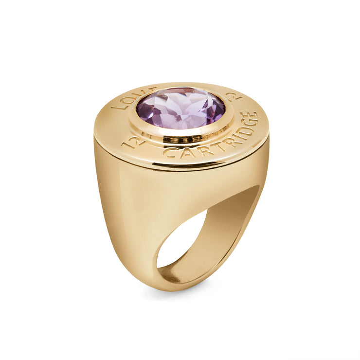 Majestic Yellow Love Cartridge Ring