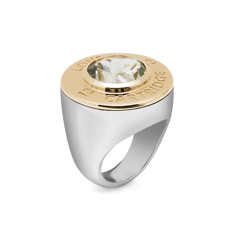 Evergreen Contrast Love Cartridge Ring