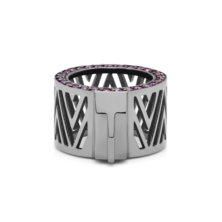 Midnight Ruby Maze Target Ring