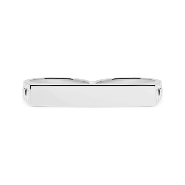 Minimal Silver Double Finger Ring