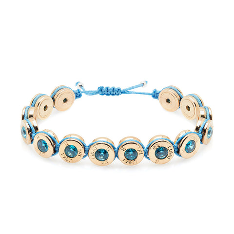 18 Ct Gold Ocean Bling Bracelet