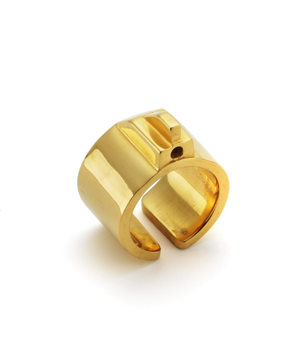 18ct Gold Plated Love Target Ring