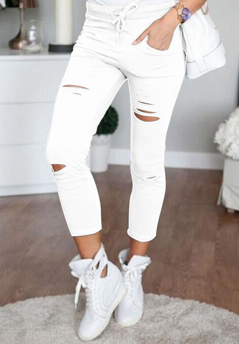 Faded Ripped Slim Skinny Jeans