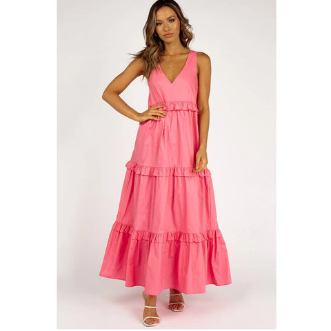Pink Maxi Dress Summer Vacay
