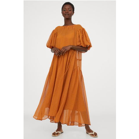 H&M Orange Dress for Summer Vacay
