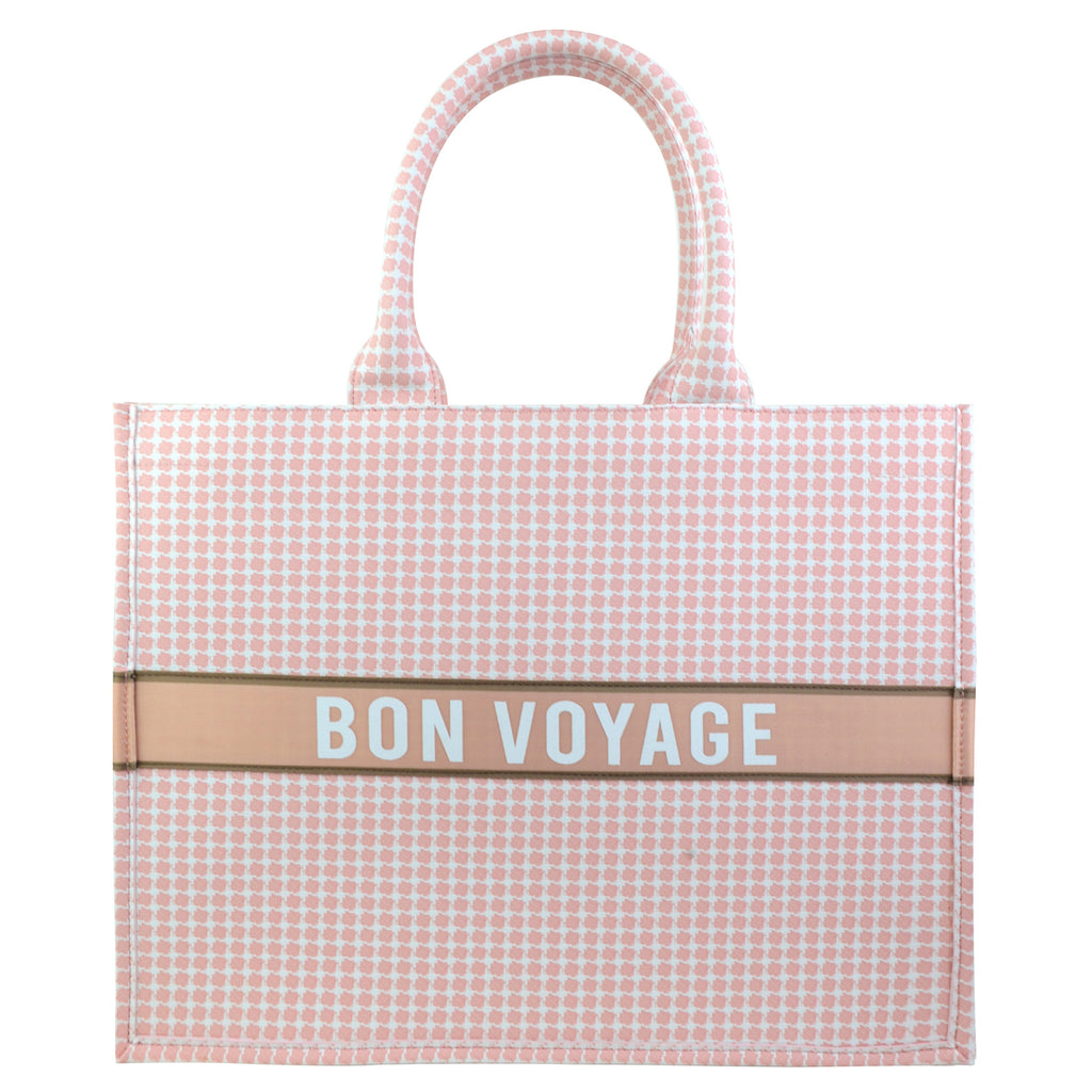 Bon Voyage Check Tote Bag