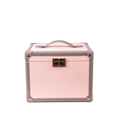 Journey Luggage Beauty Case Pink Grey Front