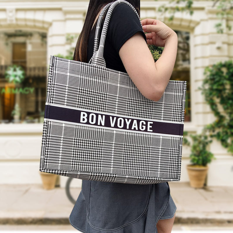 Bon Voyage Tote Bag - Black
