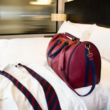 Duffle Bag - Burgundy/Navy
