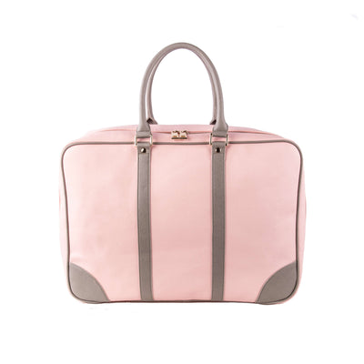 Soft Sided Suitcase Pink Grey Front Journey Luggage