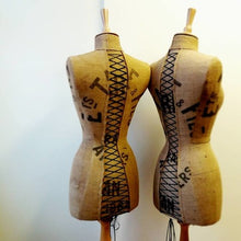 Custom Vintage French Grain Sack Mannequin