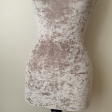 Mannequin Cover Crushed Velvet Soft Grey
