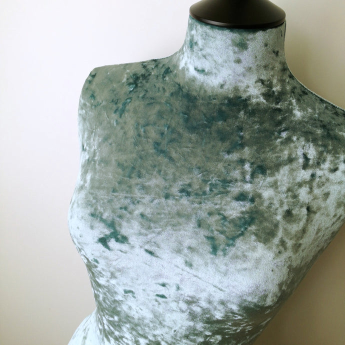 Mannequin Cover Crushed Velvet Duck Egg