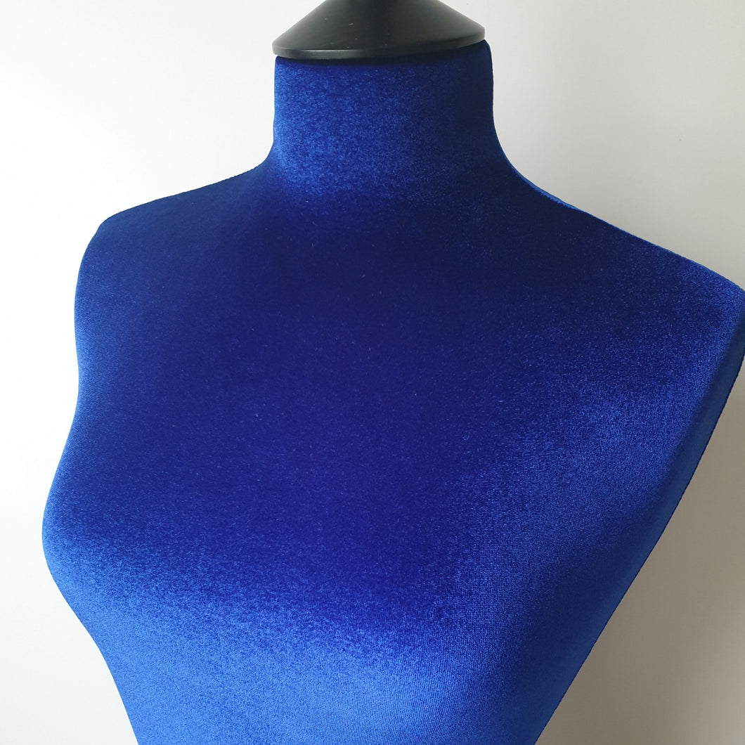 Mannequin Cover Velvet Electric Blue