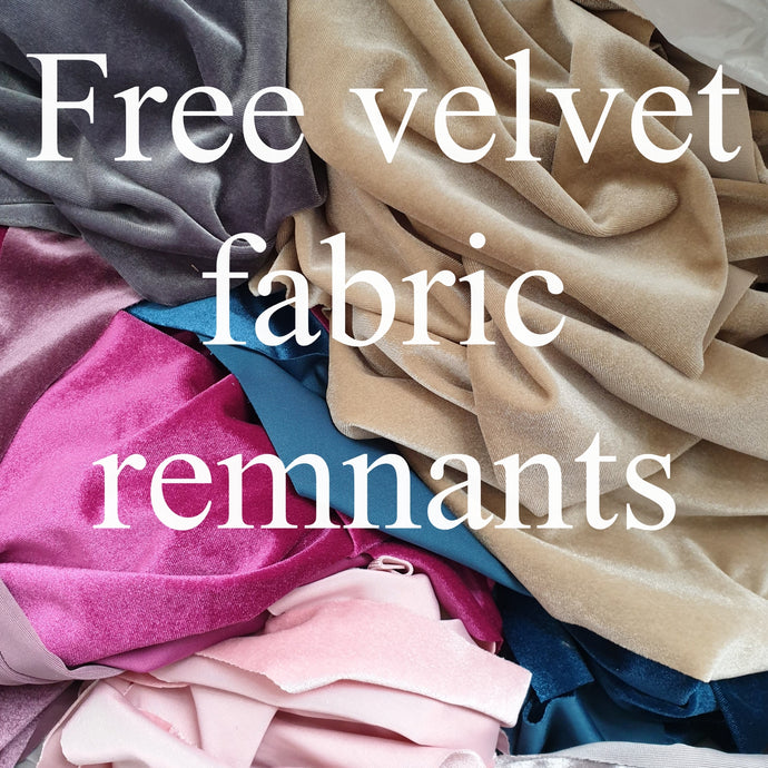 FREE stretch velvet scraps - various colours 1.2kg bag - You just pay postage