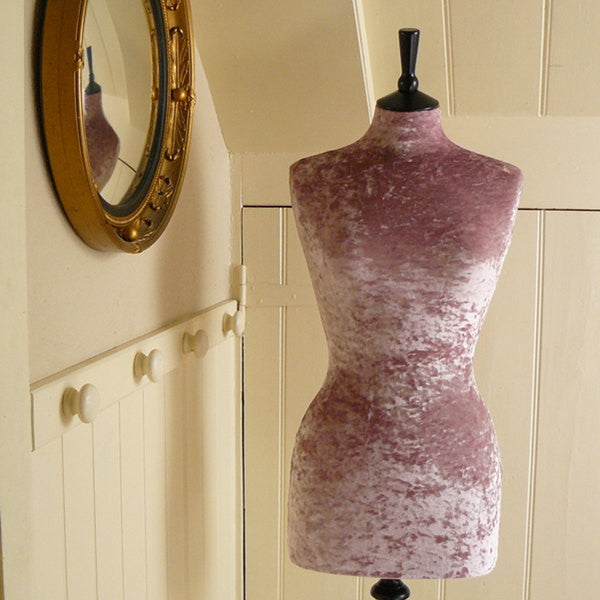 Mannequin Cover Crushed Velvet Pink