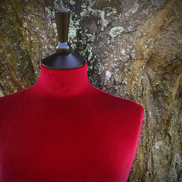 Mannequin Cover Velvet Red