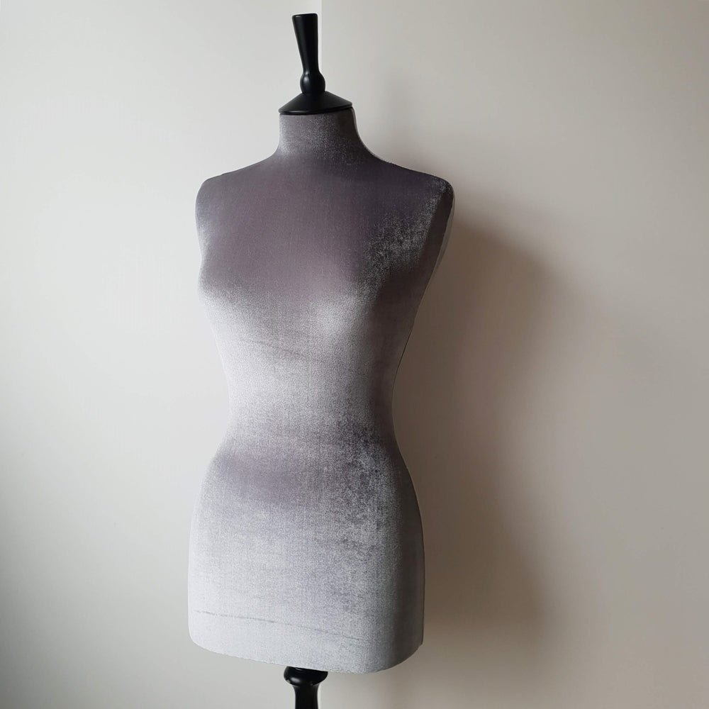 Mannequin Cover Velvet Soft Grey