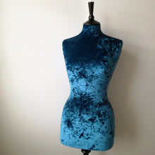 Mannequin Cover Crushed Velvet Midnight Blue