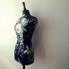 Vintage Black Floral Mannequin - IN STOCK