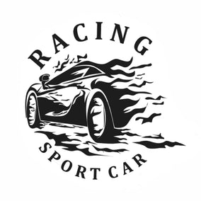 SPORTING Racing Car Emblems