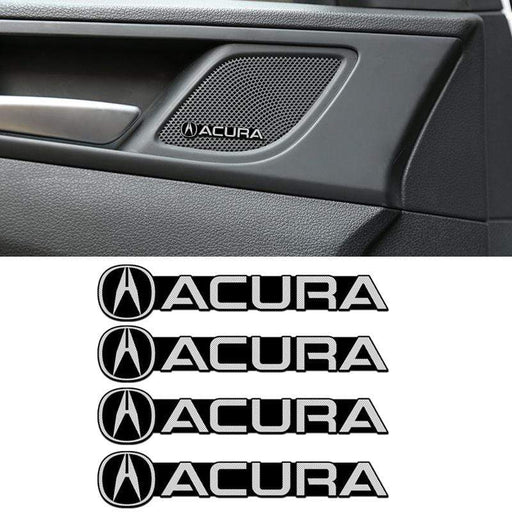 4 pcs Acura Door Speaker Emblem Stickers